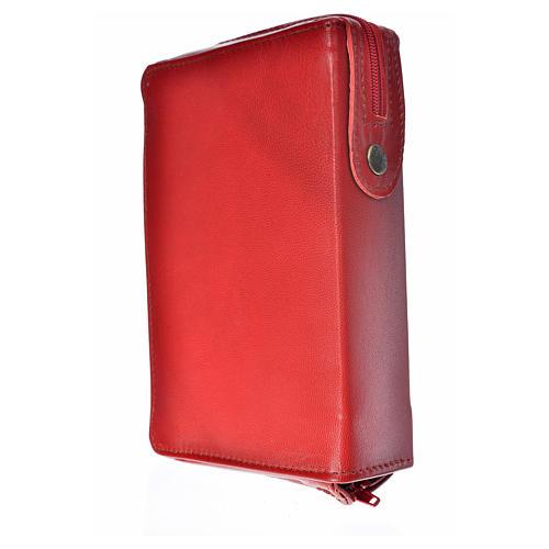 Funda Biblia Jerusalén Nueva Ed. burdeos piel S. Familia 2