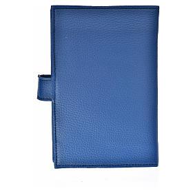 Funda Biblia Jerusalén Nueva Ed. Virgen s. cuero azul s2
