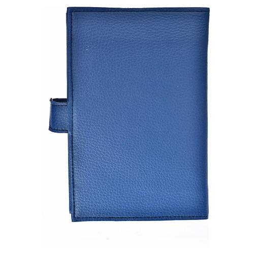 Funda Biblia Jerusalén Nueva Ed. Virgen s. cuero azul 2