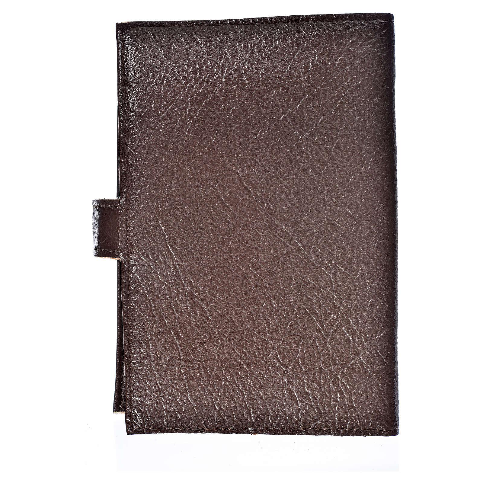 Funda Biblia Jerusalén Nueva Ed. Cristo s. cuero marrón oscuro 4