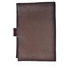 Funda Biblia Jerusalén Nueva Ed. Cristo s. cuero marrón oscuro s2