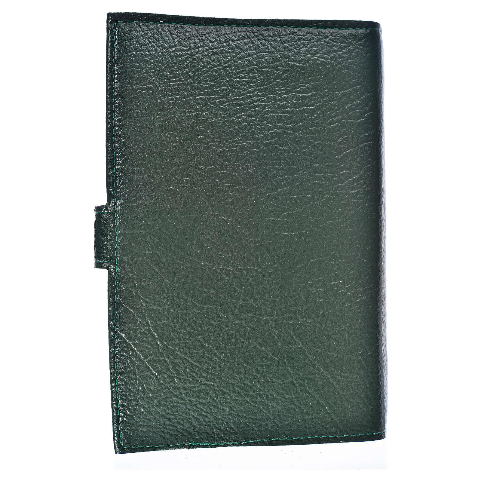 Funda Biblia Jerusalén Nueva Ed. S. Familia s. cuero verde 4