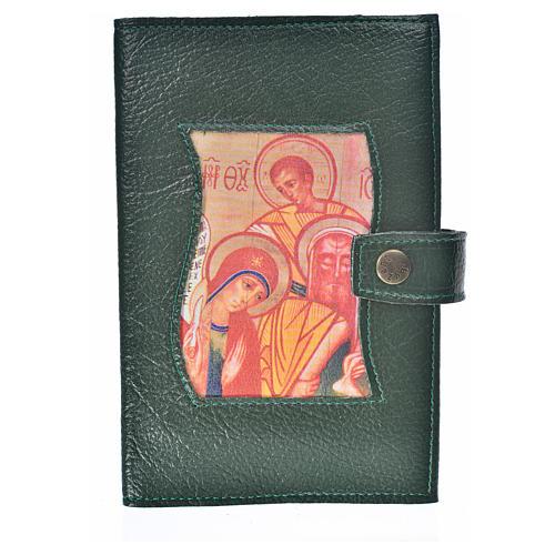 Funda Biblia Jerusalén Nueva Ed. S. Familia s. cuero verde 1