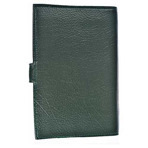 Funda Biblia Jerusalén Nueva Ed. S. Familia s. cuero verde 2