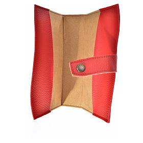 Funda Biblia Jerusalén Nueva Ed. Virgen simil cuero rojo s3