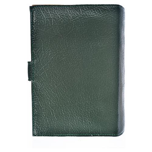 Funda Biblia Jerusalén Nueva Ed. simil cuero verde Virgen Niño 2