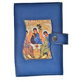 Funda Biblia Jerusalén Nueva Ed. simil cuero azul Trinidad s1