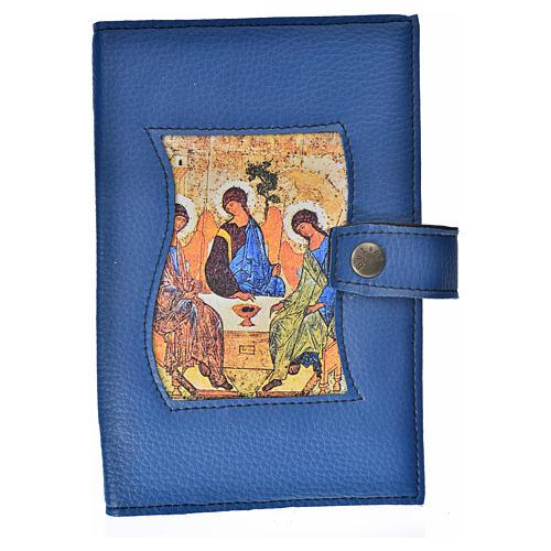 Funda Biblia Jerusalén Nueva Ed. simil cuero azul Trinidad 1