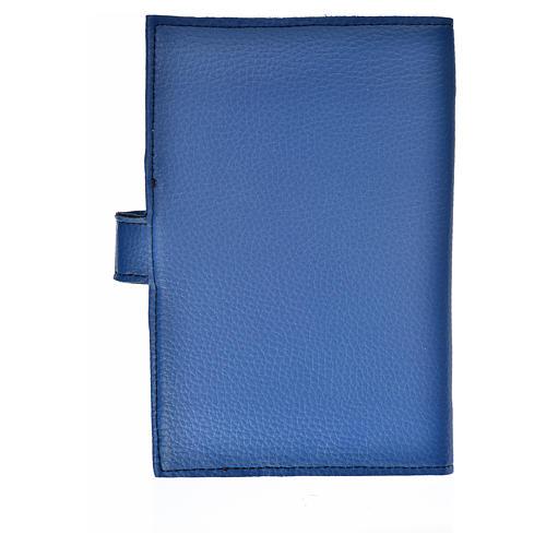 Funda Biblia Jerusalén Nueva Ed. simil cuero azul Trinidad 2