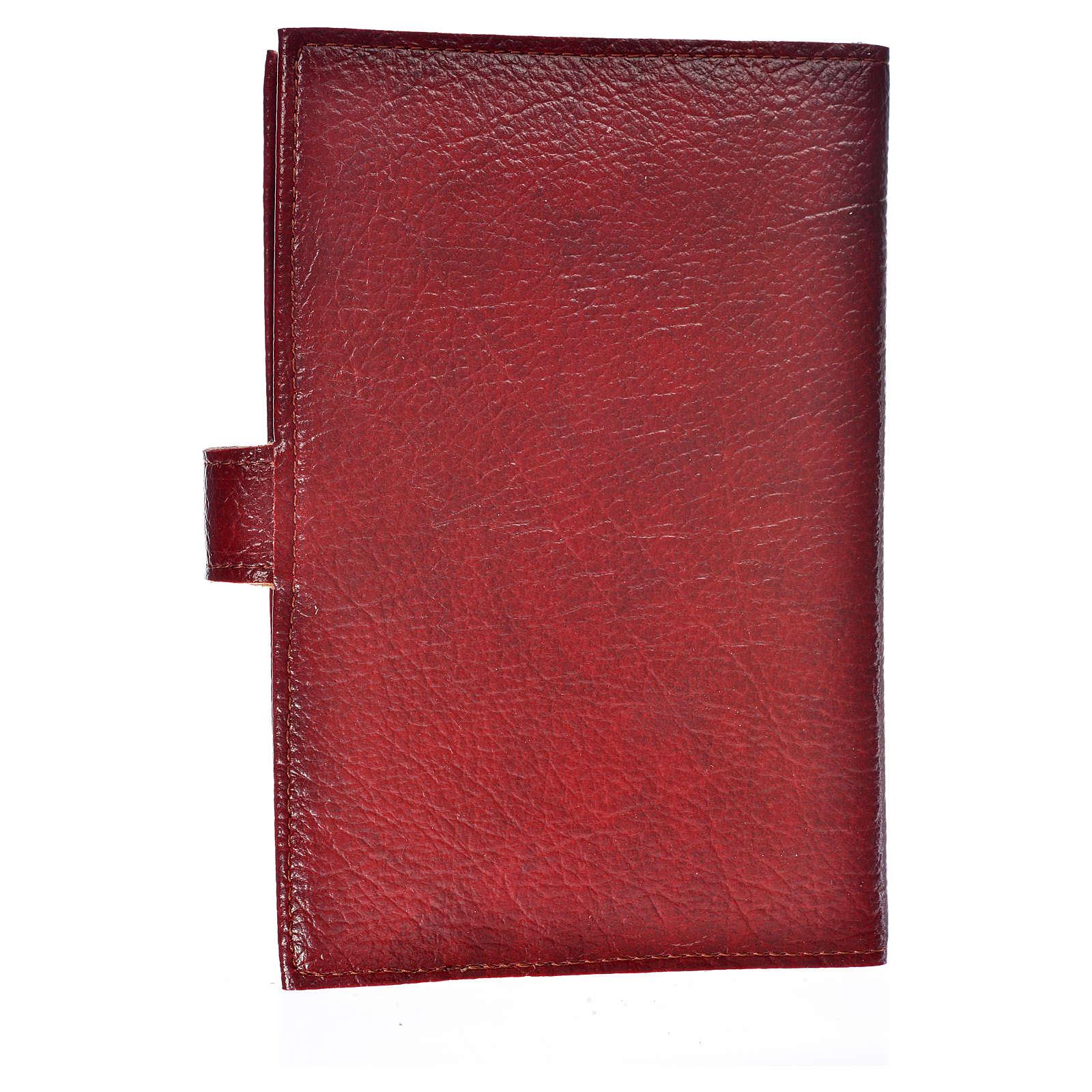 Funda Biblia Jerusalén Nueva Ed. simil cuero burdeos cierre de broche 4