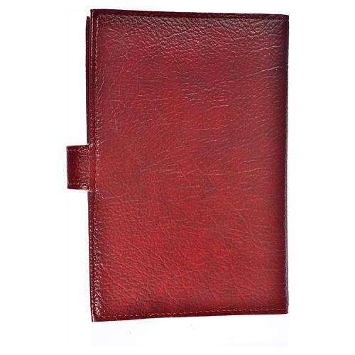 Funda Biblia Jerusalén Nueva Ed. simil cuero burdeos cierre de broche 2