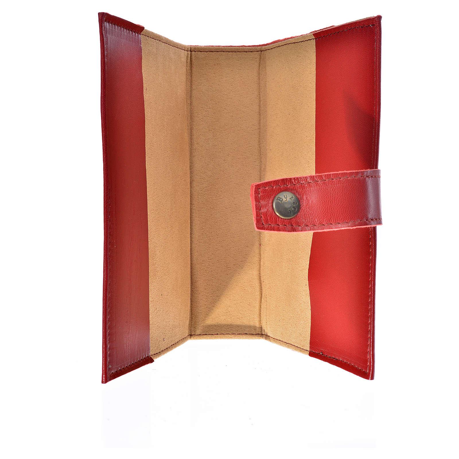 Funda Biblia Jerusalén Nueva Ed. cuero rojo Virgen Niño 4