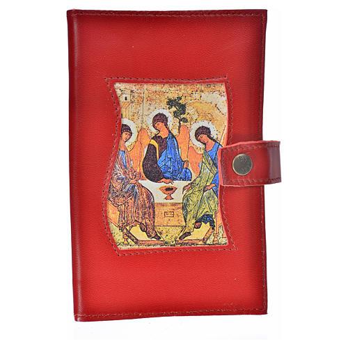 Funda Biblia Jerusalén Nueva Ed. cuero burdeos Trinidad 1