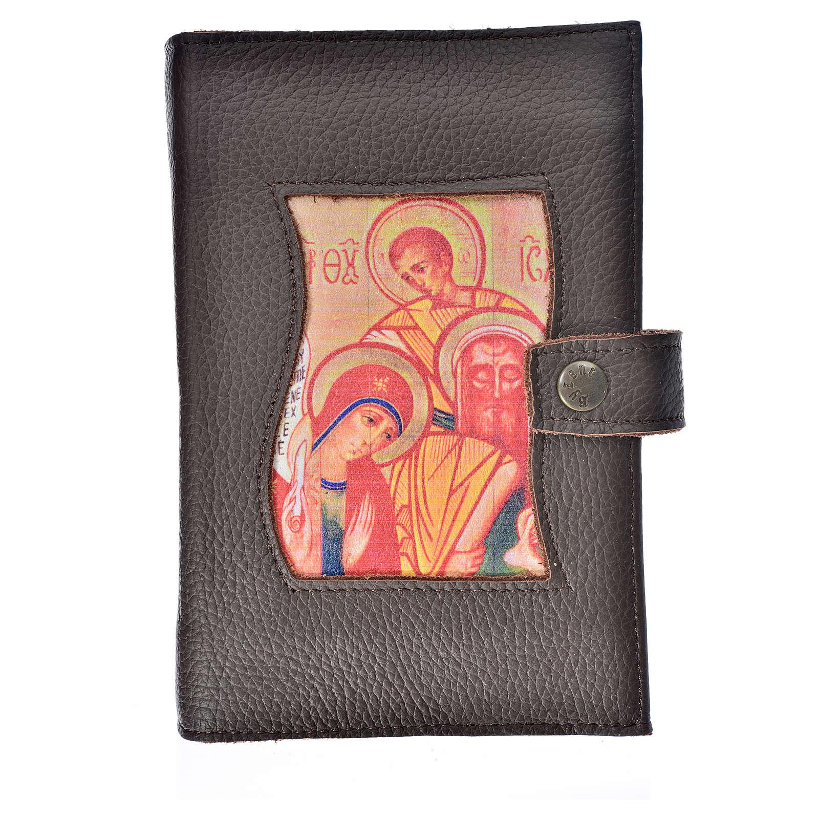 Funda Biblia Jerusalén Nueva Ed. cuero marrón oscuro S. Familia 4
