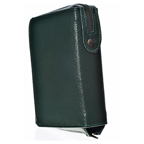 Cover for the New Jerusalem Bible with Hardcover green bonded leather Virgin Mary of Kiko 2