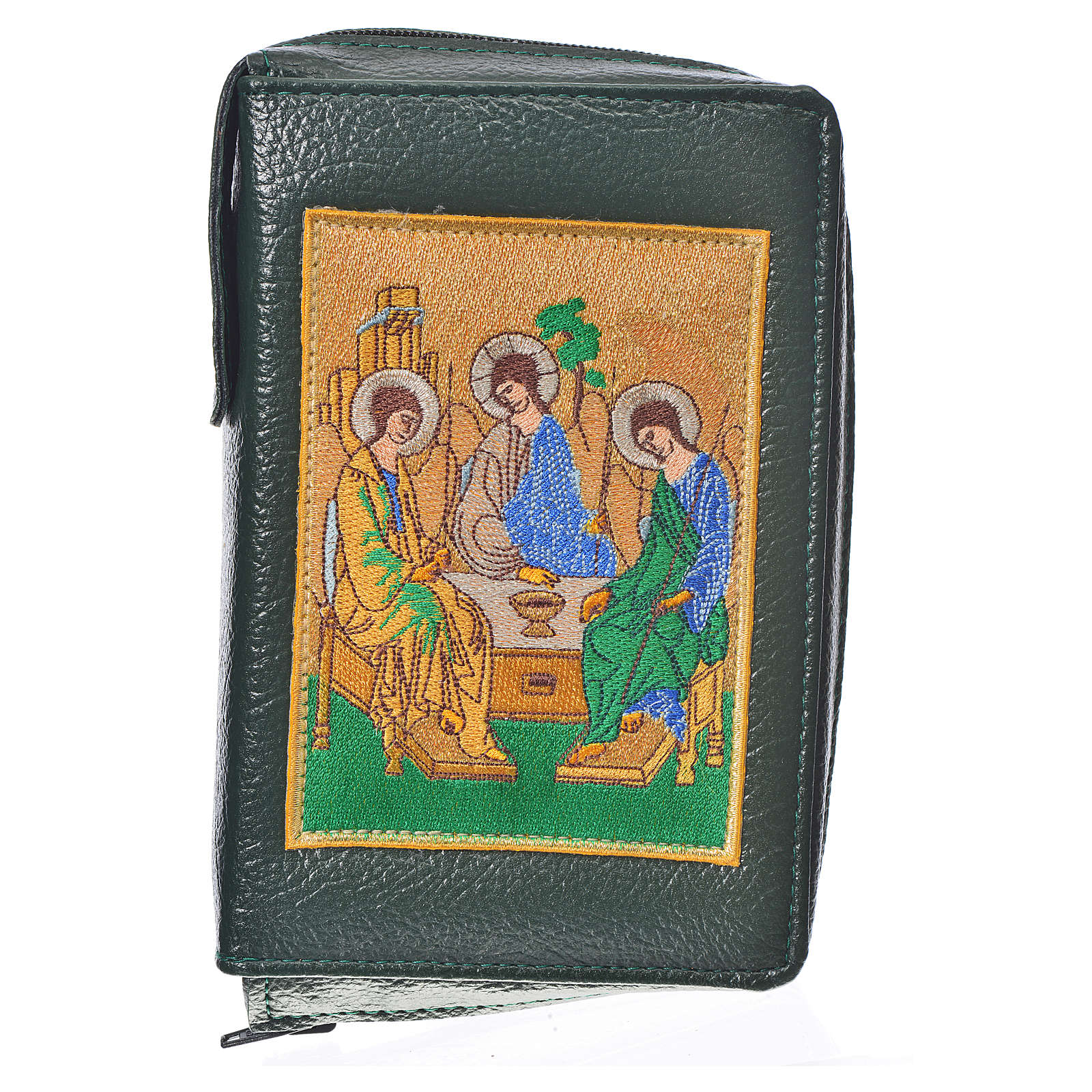 Cover New Jerusalem Bible Hardcover, green bonded leather Holy Trinity 4