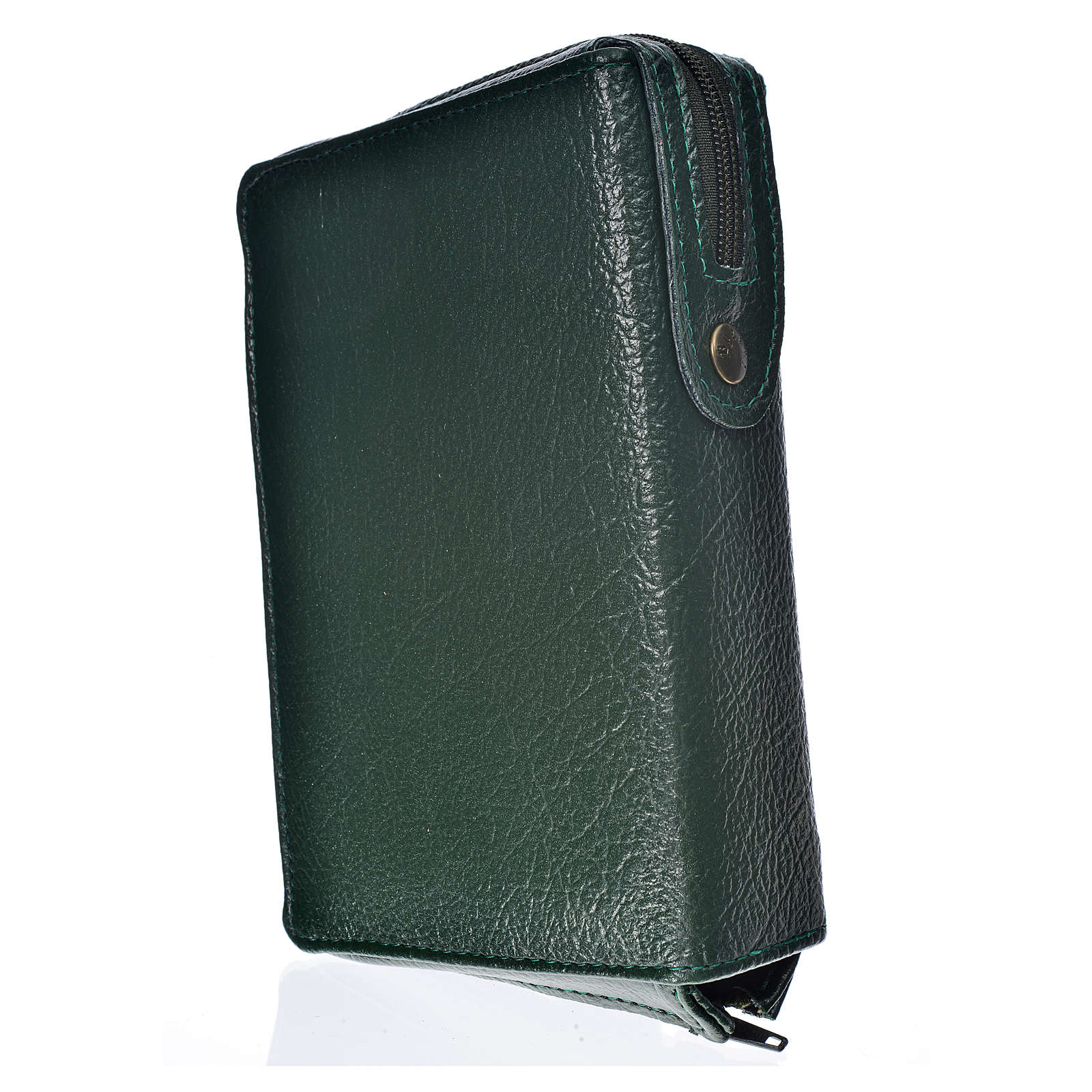 Hardcover New Jerusalem Bible green bonded leather with Holy Family image 4