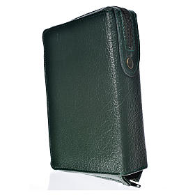 Hardcover New Jerusalem Bible green bonded leather with Holy Family image s2