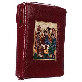 Hardcover New Jerusalem Bible burgundy bonded leather Holy Trinity s3