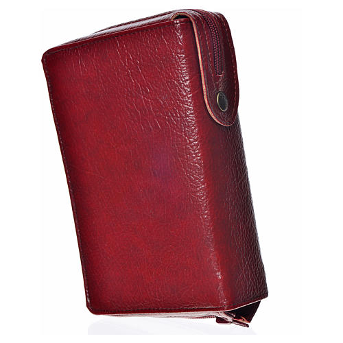 Divine office cover, burgundy bonded leather Our Lady 2