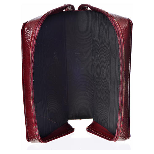 Divine office cover, burgundy bonded leather Our Lady 3