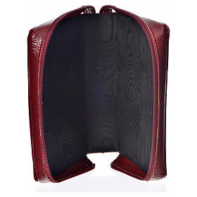 Divine office cover, burgundy bonded leather Our Lady s3