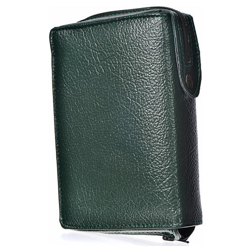 Divine office cover, green bonded leather Divine Mercy 2