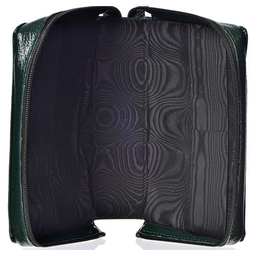 Divine office cover, green bonded leather Divine Mercy 3