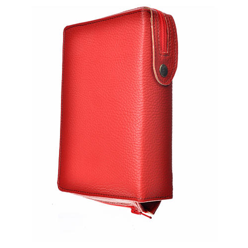 Divine office cover, red bonded leather Christ Pantocrator 2