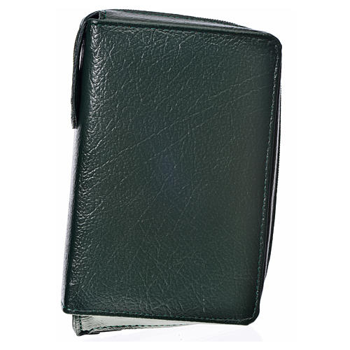 Divine Office cover in green bonded leather 1