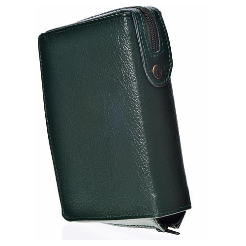 Divine Office cover in green bonded leather 2