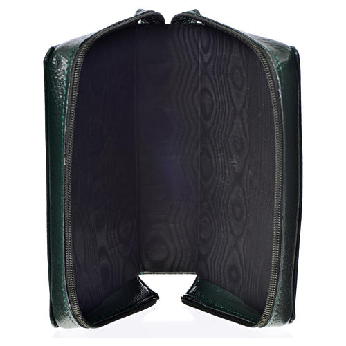 Divine Office cover in green bonded leather 3