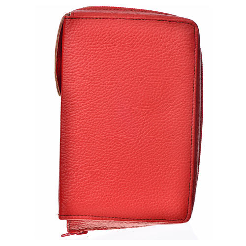 Cover for the Divine Office in red bonded leather 1