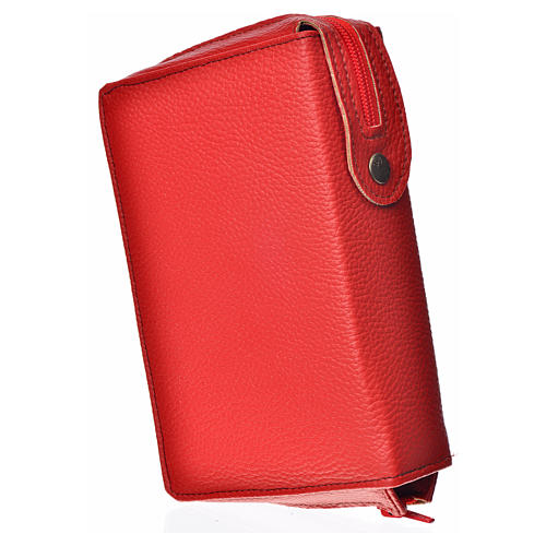 Cover for the Divine Office in red bonded leather 2