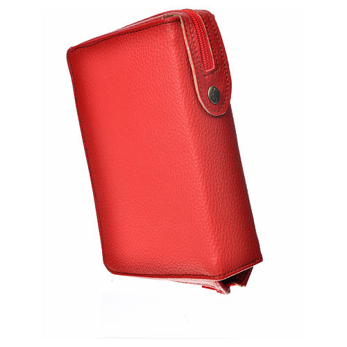Divine office cover, red bonded leather Our Lady 2