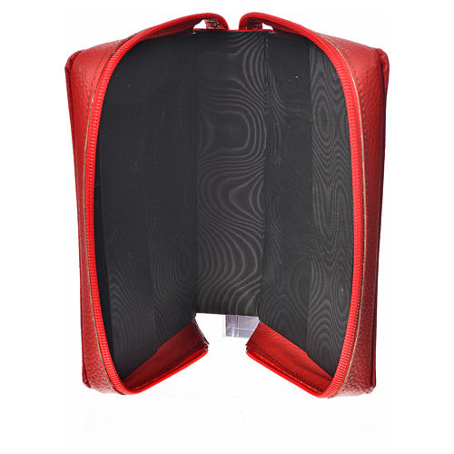 Divine office cover, red bonded leather Our Lady 3
