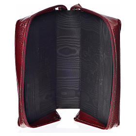 Divine Office cover in burgundy bonded leather with image of the Holy Family s3