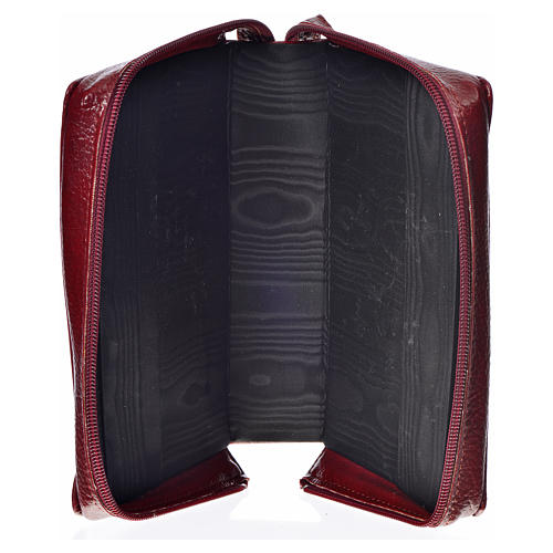 Divine Office cover in burgundy bonded leather with image of the Holy Family 3