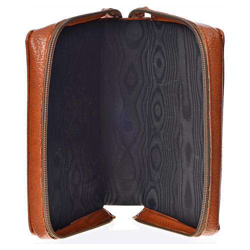 Divine Office cover in brown bonded leather with image of the Holy Family 3