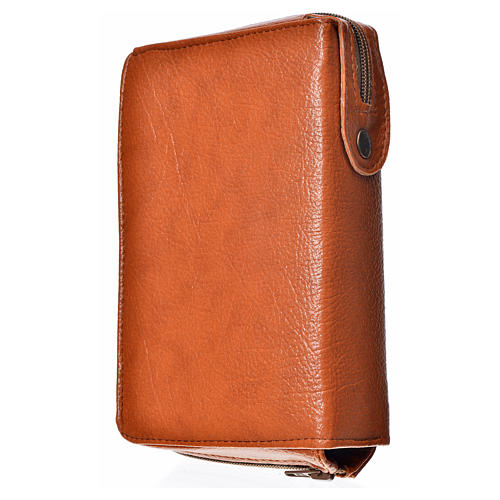Divine office cover, brown bonded leather 2