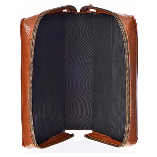 Divine office cover, brown bonded leather 3
