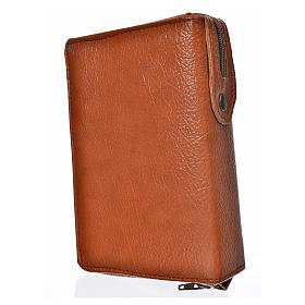 Divine office cover brown bonded leather Our Lady of Kiko s2