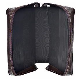 Divine office cover in dark brown bonded leather s3