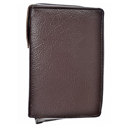 Divine office cover in dark brown bonded leather 1
