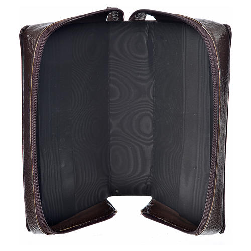 Divine office cover in dark brown bonded leather 3
