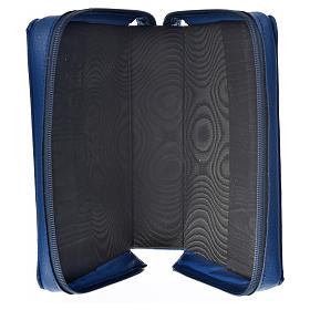Divine office cover in blue bonded leather Holy Family s3