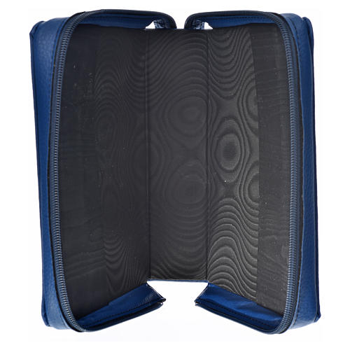 Divine office cover in blue bonded leather Holy Family 3