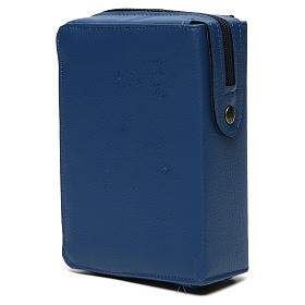 Divine office cover blue bonded leather Our Lady of Tenderness s4