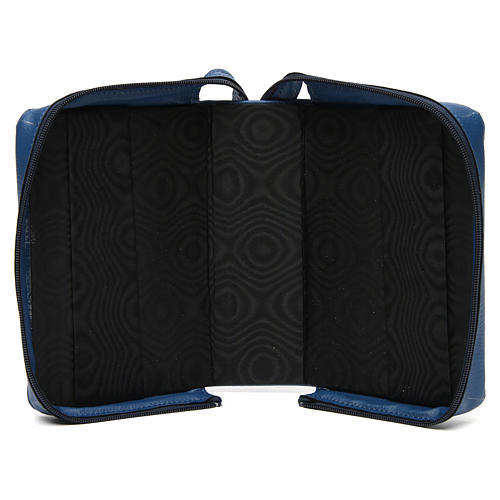 Divine office cover blue bonded leather Our Lady of Tenderness 5