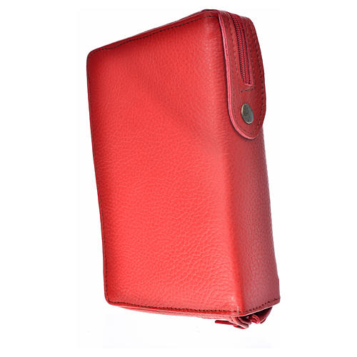 Cover for the Divine Office red leather Our Lady of Kiko 2
